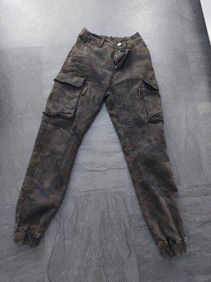 Kate Pantalon cargo noir-kaki