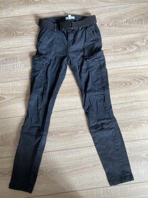 H&M Pantalon cargo noir