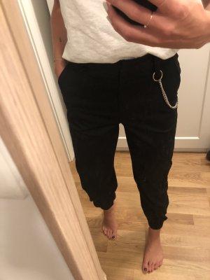 Collusion Pantalón de camuflaje negro-color plata
