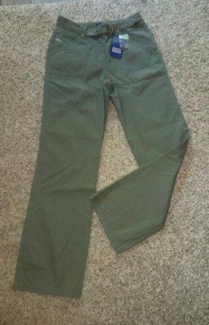 Cecil Pantalone cinque tasche cachi Tessuto misto