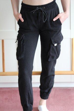 Bershka Pantalon cargo noir