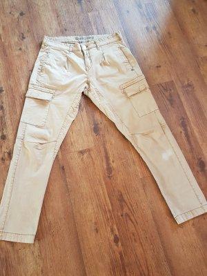 Pantalon cargo chameau coton