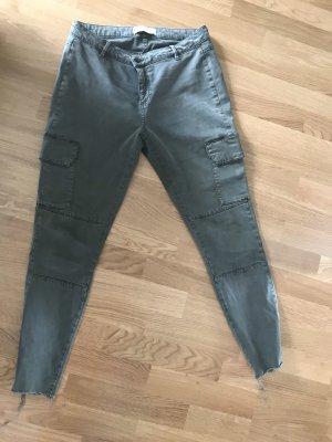 Zara Pantalone cargo cachi