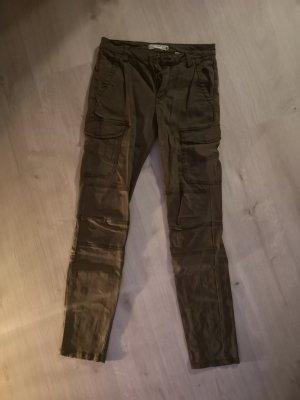 H&M Pantalone cargo verde oliva