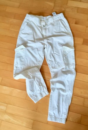 Tally Weijl Cargo Pants natural white cotton