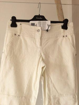 Apart Workowate jeansy w kolorze białej wełny