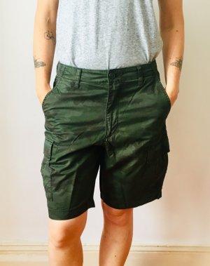 Uniqlo Bermuda verde scuro-verde bosco Cotone