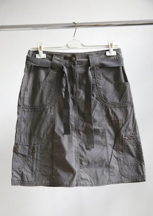 Street One Cargo Skirt dark grey cotton