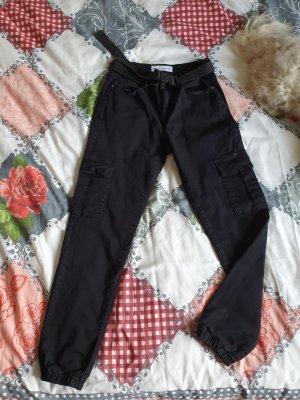 Nina Carter Pantalon cargo noir