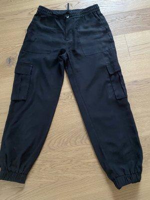 trf collections zara Pantalone cargo nero Cotone