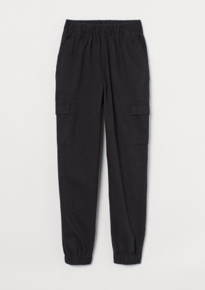 H&M DENIM Cargobroek zwart