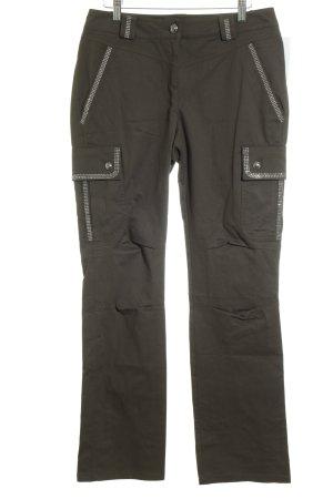 Pantalon cargo gris anthracite style décontracté