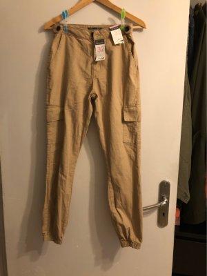 Primark Pantalone cargo color cammello