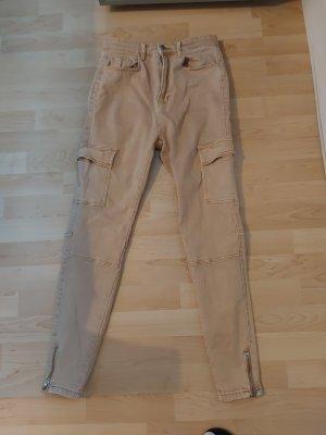 Stradivarius Cargo Pants sand brown