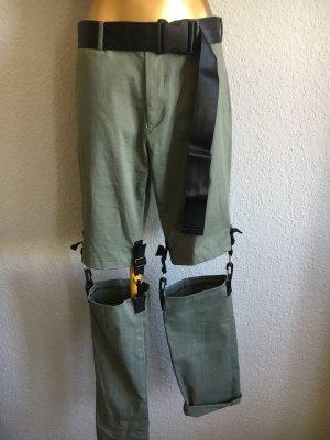 Pantalon cargo gris vert