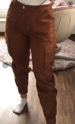 Monki Pantalon cargo brun