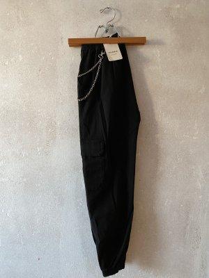 Pull & Bear Pantalón de camuflaje negro tejido mezclado