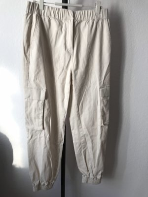 Pieces Pantalon cargo blanc cassé