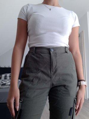 FB Sister Pantalón de camuflaje verde oliva-caqui