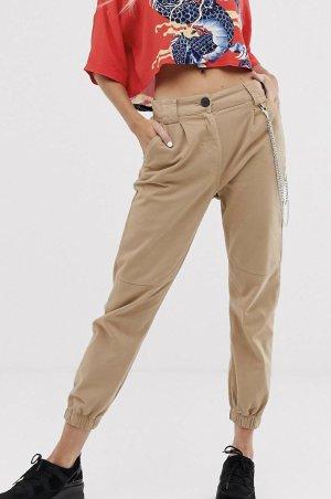 Bershka Pantalone cargo beige
