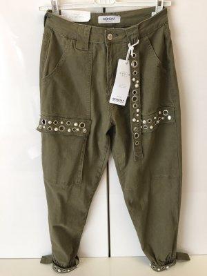 Monday Premium Pantalon cargo gris vert