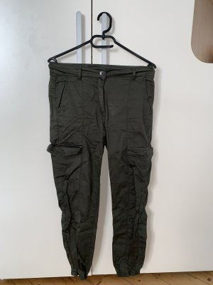 More and More Pantalon cargo kaki-vert foncé