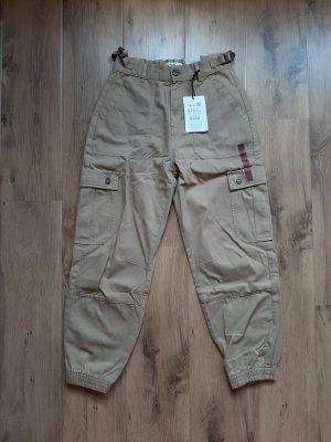 Pull & Bear Pantalon cargo beige
