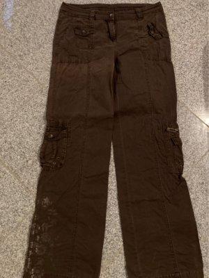 Pantalon cargo brun foncé