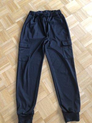 SheIn Pantalon cargo noir polyester