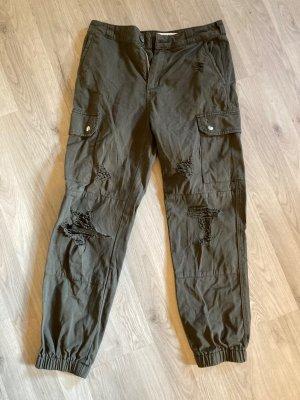 Tally Weijl Pantalone cargo grigio-verde