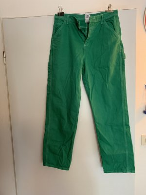 Urban Outfitters Cargo Pants forest green-white