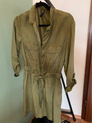 Zara Vestido de camuflaje verde hierba-caqui