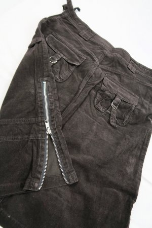 H&M Cargo Skirt black-silver-colored