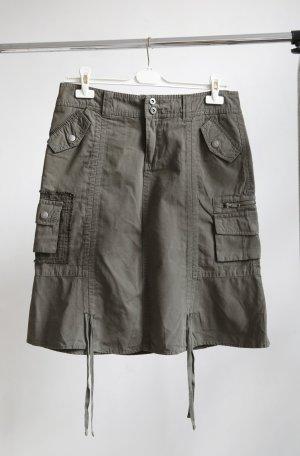 Street One Falda estilo cargo gris verdoso-caqui Algodón