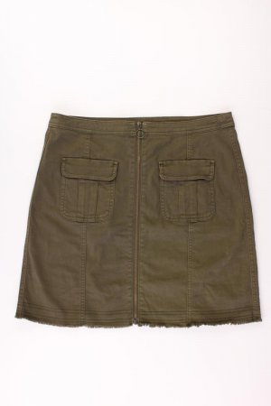 Jupe cargo vert olive coton