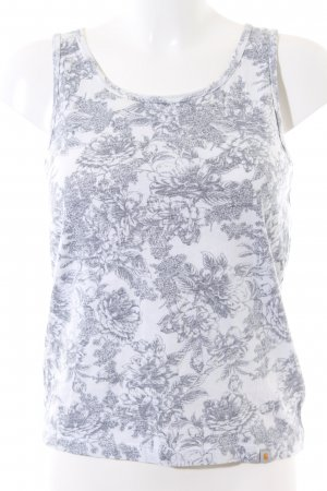 Carhartt Basic Top light grey-white flower pattern casual look