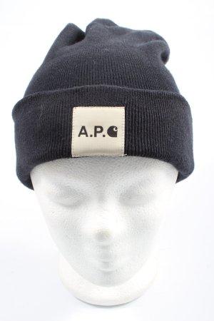 Carhartt Chapeau en tricot noir torsades style décontracté