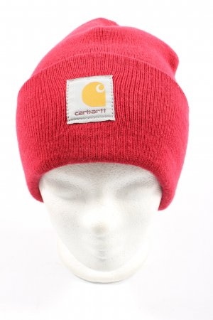 Carhartt Beanie red casual look