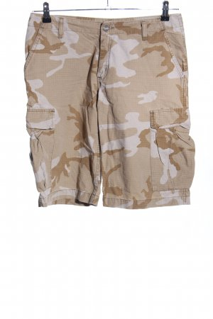 Carhartt Bermudas natural white-light grey camouflage pattern casual look