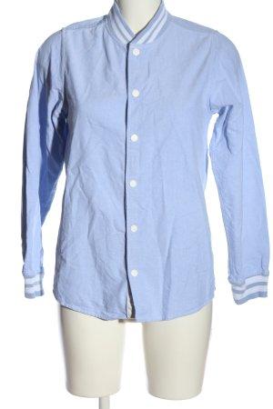 Carhartt Collegejacke blau meliert Casual-Look