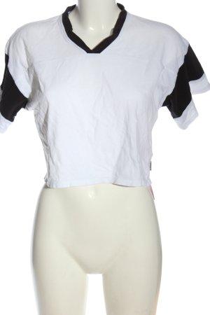 Carhartt T-shirt court blanc-noir style décontracté