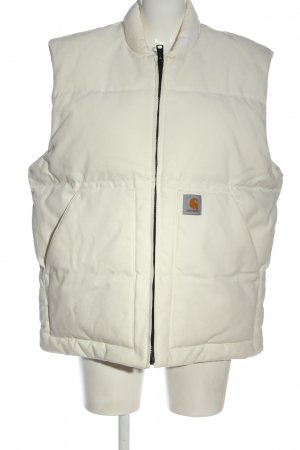 Carhartt Down Vest natural white quilting pattern casual look