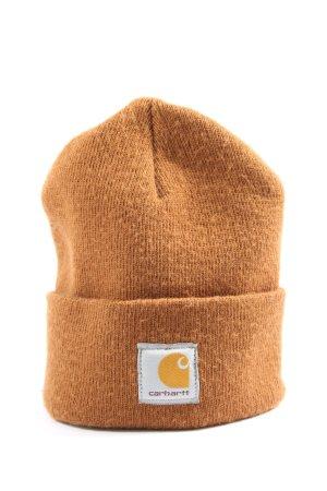 Carhartt Beanie licht Oranje prints met een thema casual uitstraling
