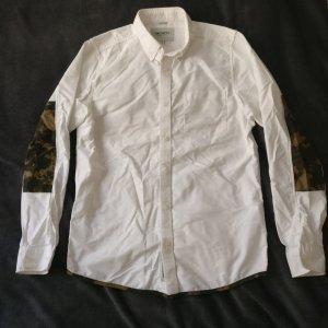 Carhartt Hemd weiß mit Military Camouflage Zierde