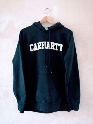 Carhartt Felpa con cappuccio nero-bianco