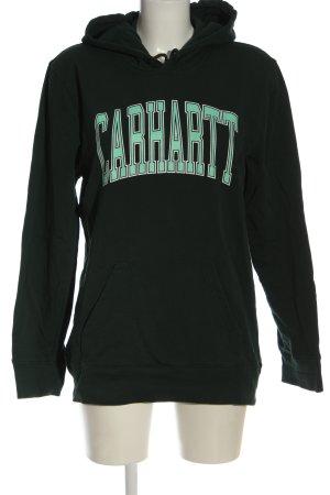 Carhartt Kapuzensweatshirt khaki Schriftzug gedruckt Casual-Look