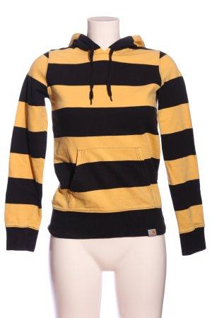 Carhartt Hooded Sweatshirt primrose-black striped pattern casual look