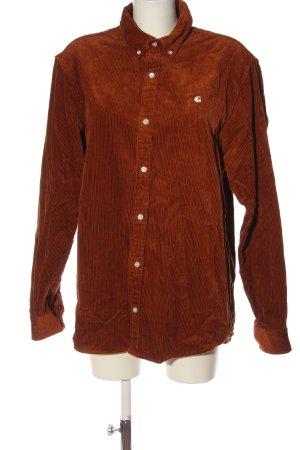 Carhartt Chemise à manches longues brun style décontracté
