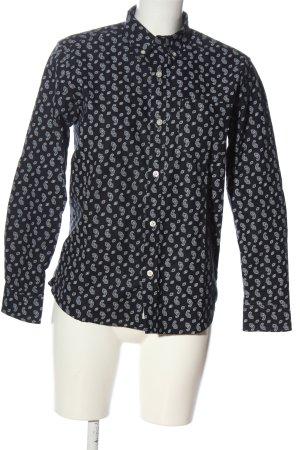 Carhartt Langarmhemd schwarz-weiß abstraktes Muster Casual-Look