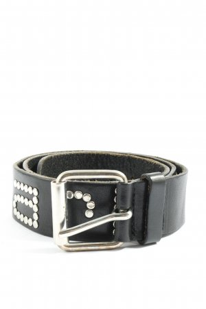 Carhartt Leather Belt black-silver-colored casual look